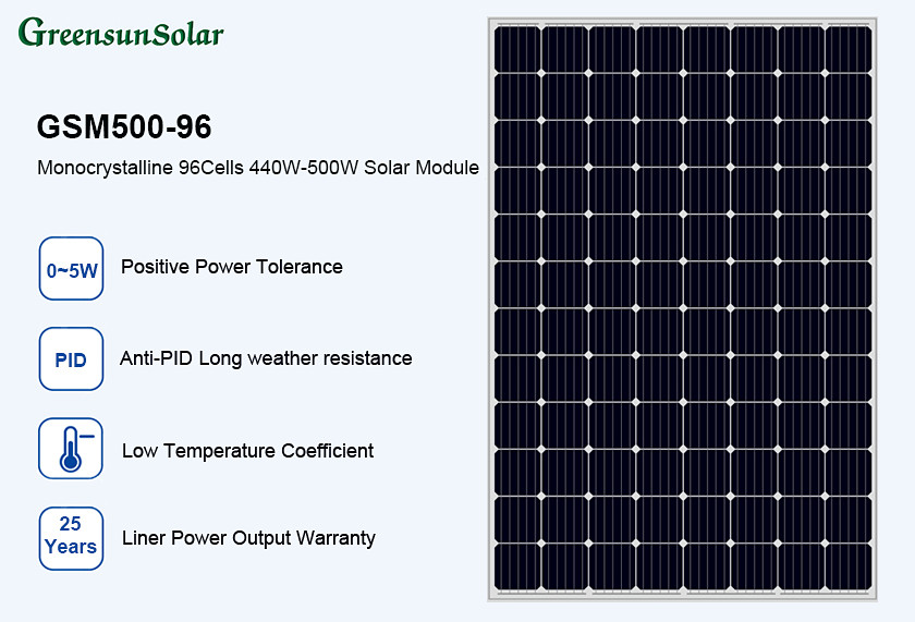 Buy Greensun Mono 48v Solar Panel 480w 490w 500w Greensun Mono 48v Solar Panel 480w 490w 500w Suppliers Manufacturers Factories
