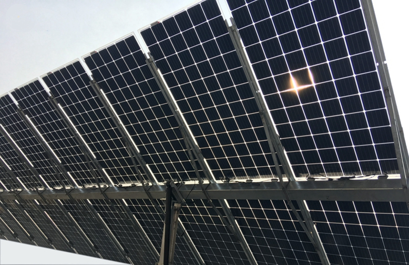 Bifacial PERC modules power station