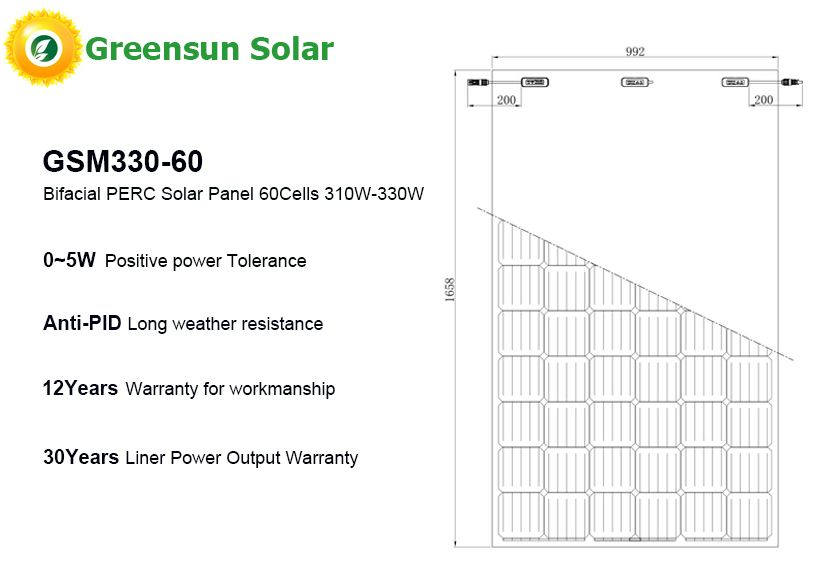 Bifacial PERC pv modules 60cells