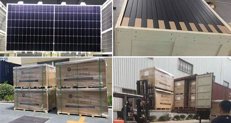 120cells half cut solar panels package