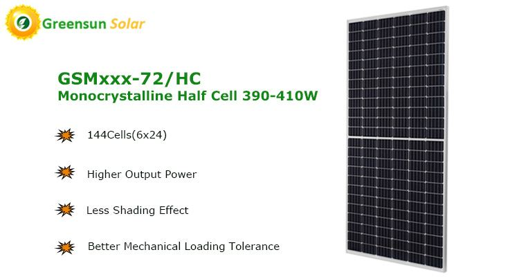 144cells half-cut solar panels 400w