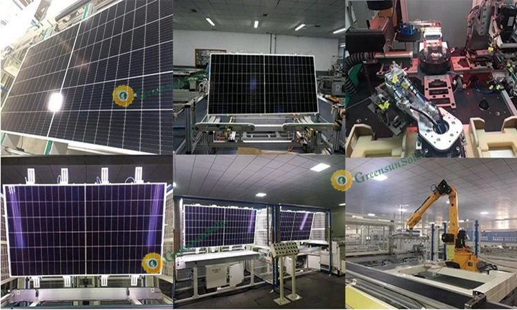 half cut cell solar panel production