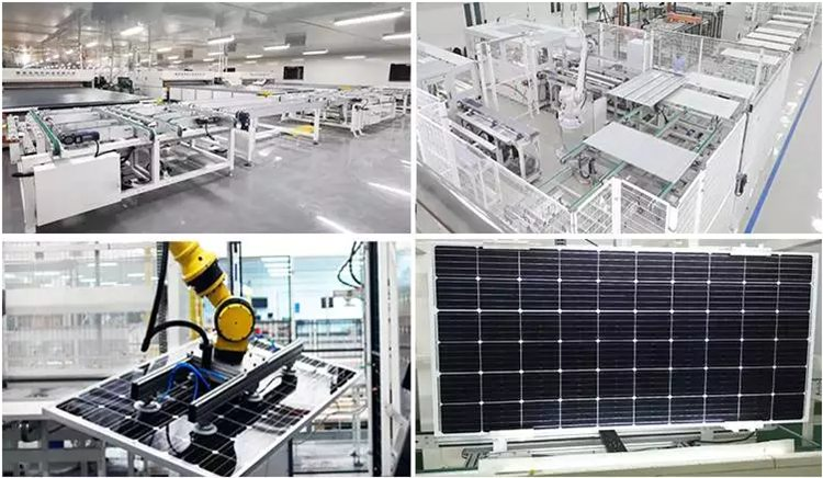 solar panel factory production