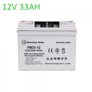 agm battery 33ah