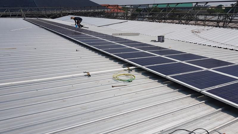 200kw Energy Storage Solar Power Station Roof Installation
