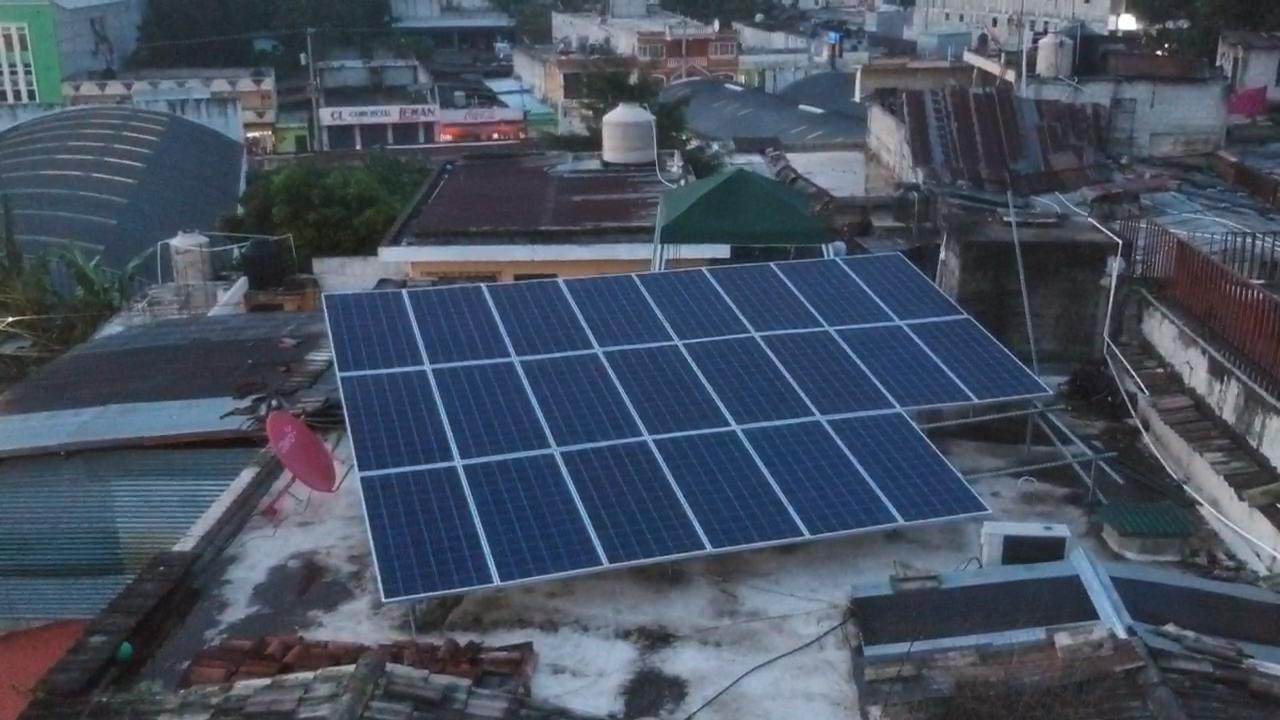 8kw On Grid Solar Energy Systems Project on Roof Home Use
